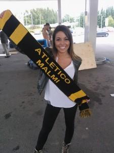Amanda Harkimokin kannattaa Atleticoa
