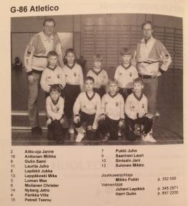 Joukkue näytti tältä vuonna 1995