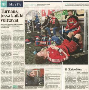 Mosa Cup on esiintynyt jonkun verran erilaisissa medioissa, mm. Helsingin Sanomissa vuonna 2015.