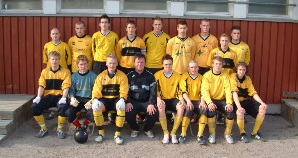 Tässä joukkue kauden 2007 alussa...