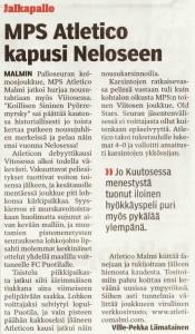 Noususta kirjoitti myös paikallislehti Vartti...