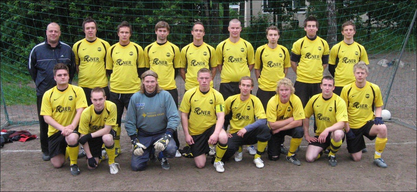 Atletico Malmi joukkuekuvassa vuonna 2009