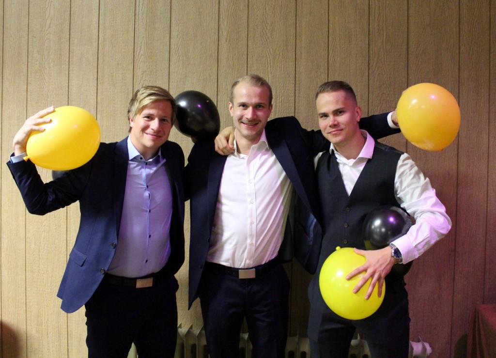 Nämä miehet kuuluivat kauden onnistujiin. Heiltä odotetaan paljon myös ensi kaudella. Kuvassa (vasemmalta alkaen) Mika Tenkanen, Jesse Ketonen ja Jonne Ketonen.