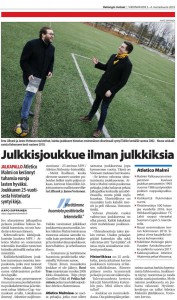 Hyväntekeväisyysprojektit ja tuore muistelmateos saivat myös mukavasti näkyvyyttä. Ohessa Helsingin Uutisten juttu lauantailta 3.11.2018.